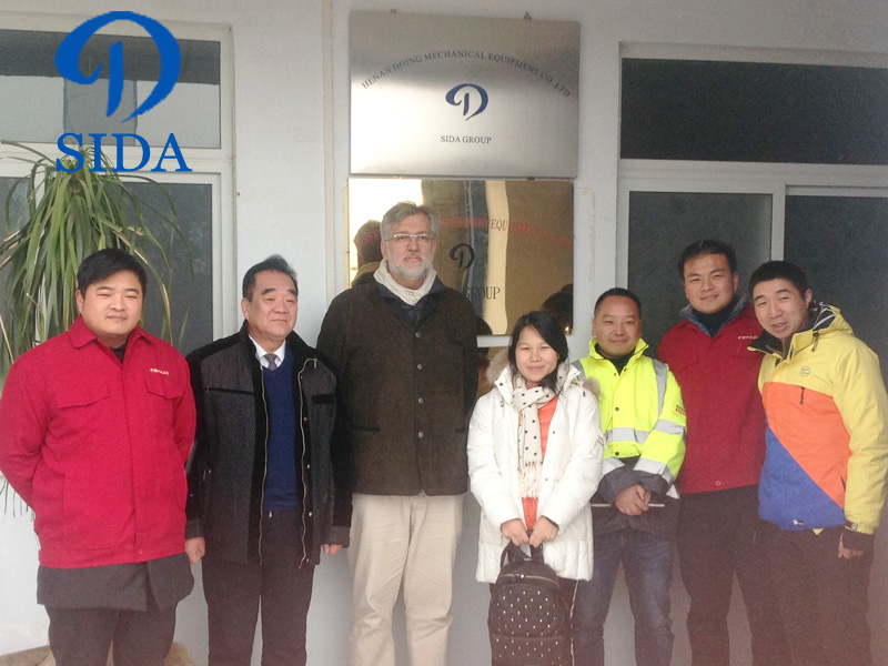 100 tons of cassava starch processing equipment customers visit SIDa -Bureau Veritas international certification