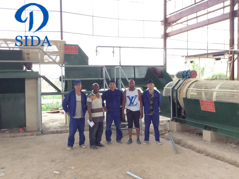 Cassava starch processing machine project in Nigeria-50 tons of starch