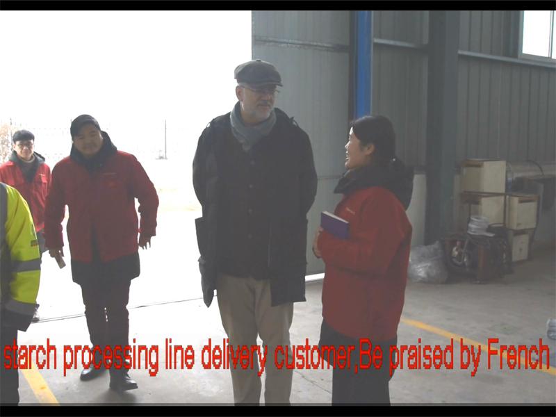 The cassava processing line manufacturing process of Kaifeng Sida company has got praise from Europe