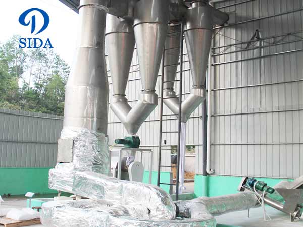 Cassava powder air-stream drying machine